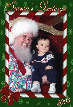 Spencer's first trip to see Santa